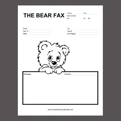 Cover letter fax examples